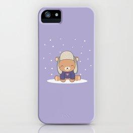 Kawaii Cute Winter Bear iPhone Case