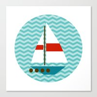 boat Canvas Prints featuring Boat by Valendji