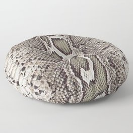 Faux Boa Constrictor Snake Skin Design Floor Pillow