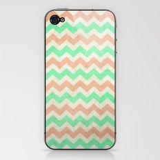 coral mint chevron iPhone & iPod Skin