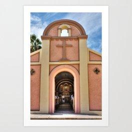 La iglesia Mexicana Art Print