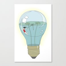 Life in a lightbulb. Day Canvas Print