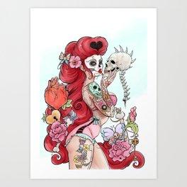 Tattoo pin up Art Print