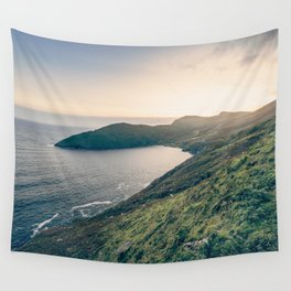 Keem Bay Sunset - nature photography Wall Tapestry