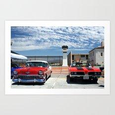 At the Car Show Art Print