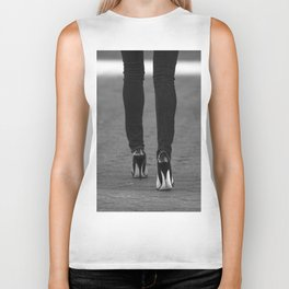 Excess Black and White Biker Tank