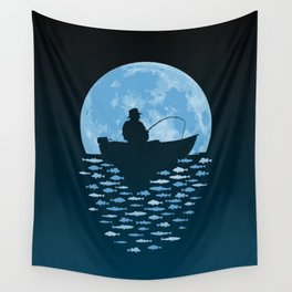 Hooked by Moonlight Wall Tapestry