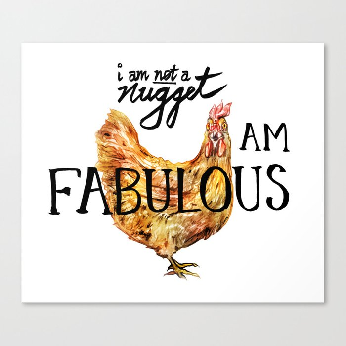I AM FABULOUS Canvas Print