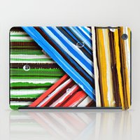 striped iPad Cases featuring Striped Planes by Claudia McBain