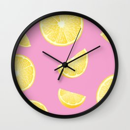 Pull up with a Lemon Wall Clock