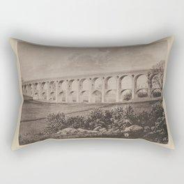 Derivation de la Vanne. Arcades de Cuy Les Travaux Publics de la France Rectangular Pillow