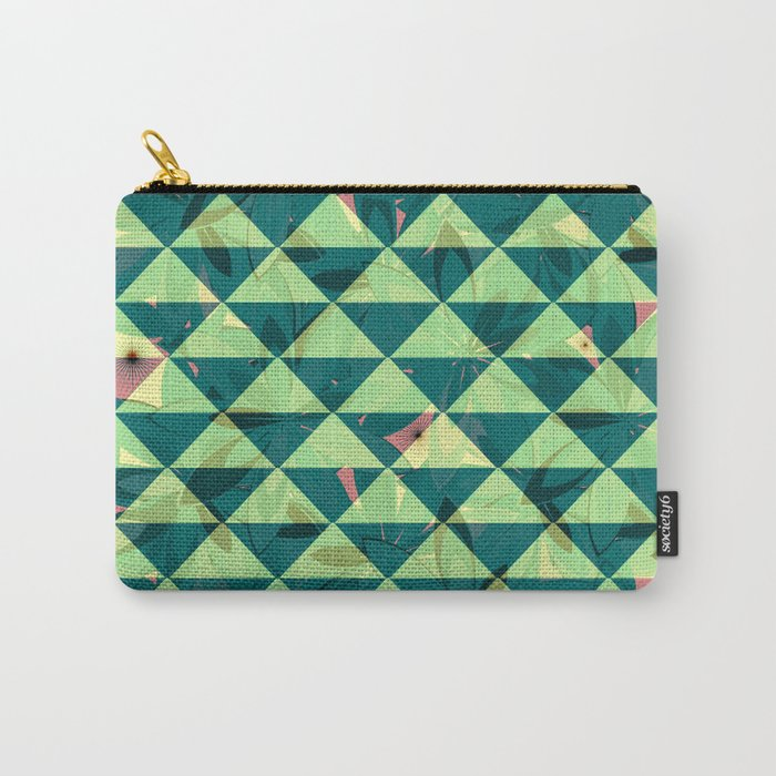 Vegetation-triangles Carry-All Pouch