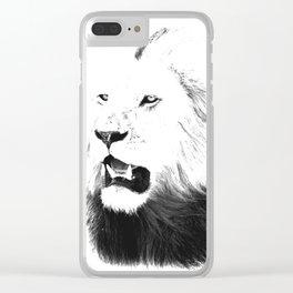 Lion Portrait, Lions of the Masai Clear iPhone Case