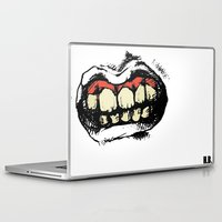 teeth Laptop & iPad Skins featuring TEETH! by Helena Bowie Banshees