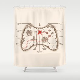 Controller Map Shower Curtain