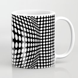 Black And White Victor Vasarely Style Optical Illusion Coffee Mug