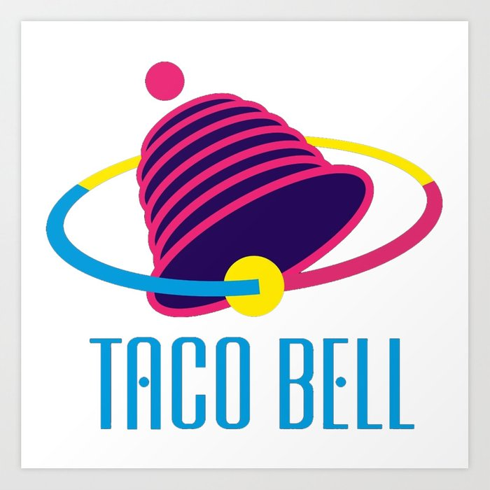 graphic about Taco Bell Printable Application titled Taco Bell Artwork Print via mariombroo