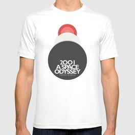 2001 a Space Odyssey - Stanley Kubrick, minimal movie poster, rétro film playbill, sci-fi T-shirt