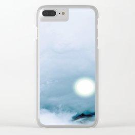Blue Heaven Clear iPhone Case