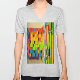 Wall Scape Unisex V-Neck