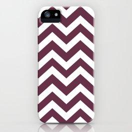 Wine dregs - violet color - Zigzag Chevron Pattern iPhone Case