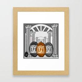 Necropolis Coins Palladium, Platinum and Copper 4 Framed Art Print
