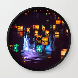 Festival of water lights Wall Clock