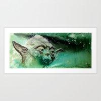 yoda Art Prints featuring YODA by ARTito