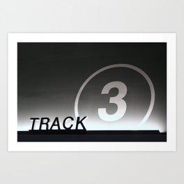 Track 3 Art Print