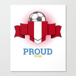 Football Peruvians Peru Soccer Team Sports Footballer Goalie Rugby Gift Canvas Print