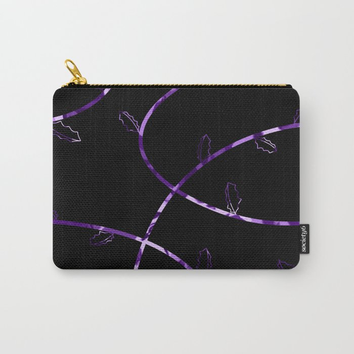 Jagged leaves, lilac Carry-All Pouch