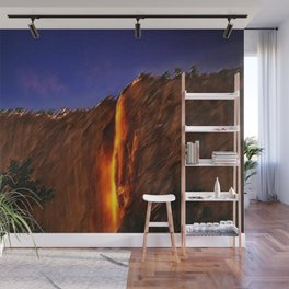Horsetail Falls - Yosemite Landscape Painting by Jeanpaul Ferro Wall Mural