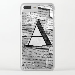 Dialecto Clear iPhone Case
