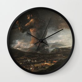 Francisco Goya The Colossus The Giant El Coloso Wall Clock