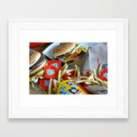 junk food Framed Art Prints featuring Junk Food by Renatta Maniski-Luke