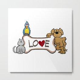Animal Love Metal Print