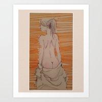 butt Art Prints featuring Butt by HeadFukka