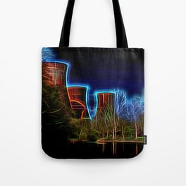 Digital Art Ironbridge Power Station Tote Bag