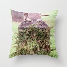 Fossoway Kirkyard, Crook of Devon, Scotland Throw Pillow
