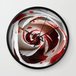 Bleeding Rose Macro Wall Clock