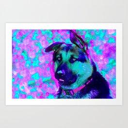 Artistic Dog Expression Art Print