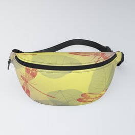 Dragonflies and Leaves Q Fanny Pack