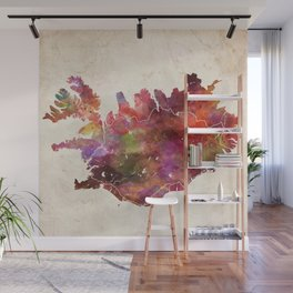 Iceland map Wall Mural