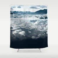 ice Shower Curtains featuring Ice by 83 Oranges™