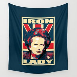 Margaret Thatcher Iron Lady Pop Art Wall Tapestry