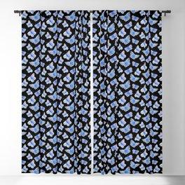 Blue Butterfly Pattern - Dark Blackout Curtain