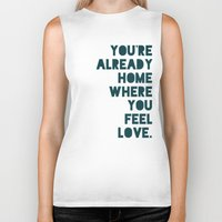 home sweet home Biker Tanks featuring Home by Leah Flores