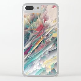 Rainbow Shards - Abstract Art by Fluid Nature Clear iPhone Case