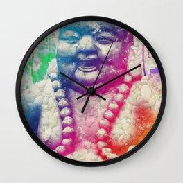Buddha Watercolour Pebbles Wall Clock
