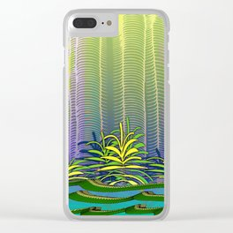 Tropical Yellow Jungle Clear iPhone Case